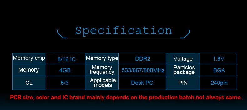 DDR2 533 667 800 4g