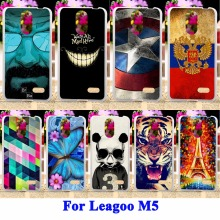 Durable Silicone Cell Phone Covers For Leagoo M5 Case Panda Tiger Captain American Painted Housing Bags For Leagoo M5 Shell Hood