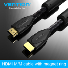 Vention High Speed Cable HDMI 24K Gold Plated Male-Male 1.4V HDMI Cable 1m-8m 3D 1080P for Computer Smart Box PS3 Set-top Box(China)