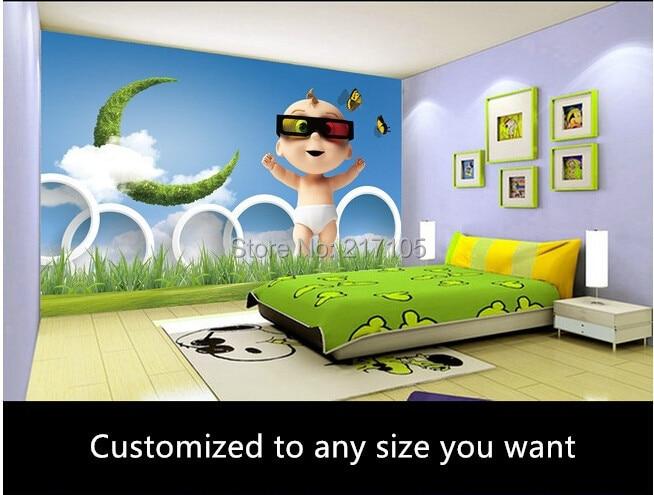 Custom 3D stereoscopic infant baby room wallpaper for living room interior backdrop wallpaper<br>