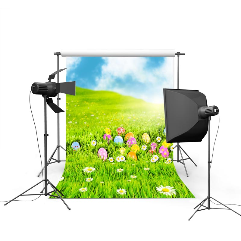 2017 new spring easter photography backdrops sky flower eggs new born baby children photographic background Easter Day P1188<br><br>Aliexpress