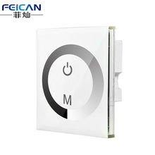 DC12-24V 4A/CH 3Channel Touch Panel Dimmer Wall  Recessed Touchable LED Dimmer For Single Color LED Strip Light Free Shipping