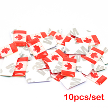10pcs/lot, New Car styling Canada small Decorative Badge Hub caps Steering wheel for Ford focus Chevrolet Car Emblem Sticker(China)