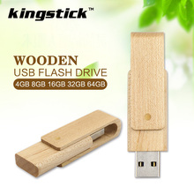 New style Rotate wooden usb flash drive 128gb 64gb u disk 32gb cheap Pendrives 8gb 4gb memory Stick Pen Drive(China)