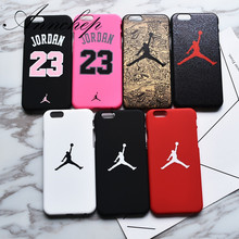 Luxury case for iphone 6 6s Plus X Basketball Flying Man Jordan matte PC case for iphone 7 8 Plus 5s SE Cover Capa Funda Coque(China)