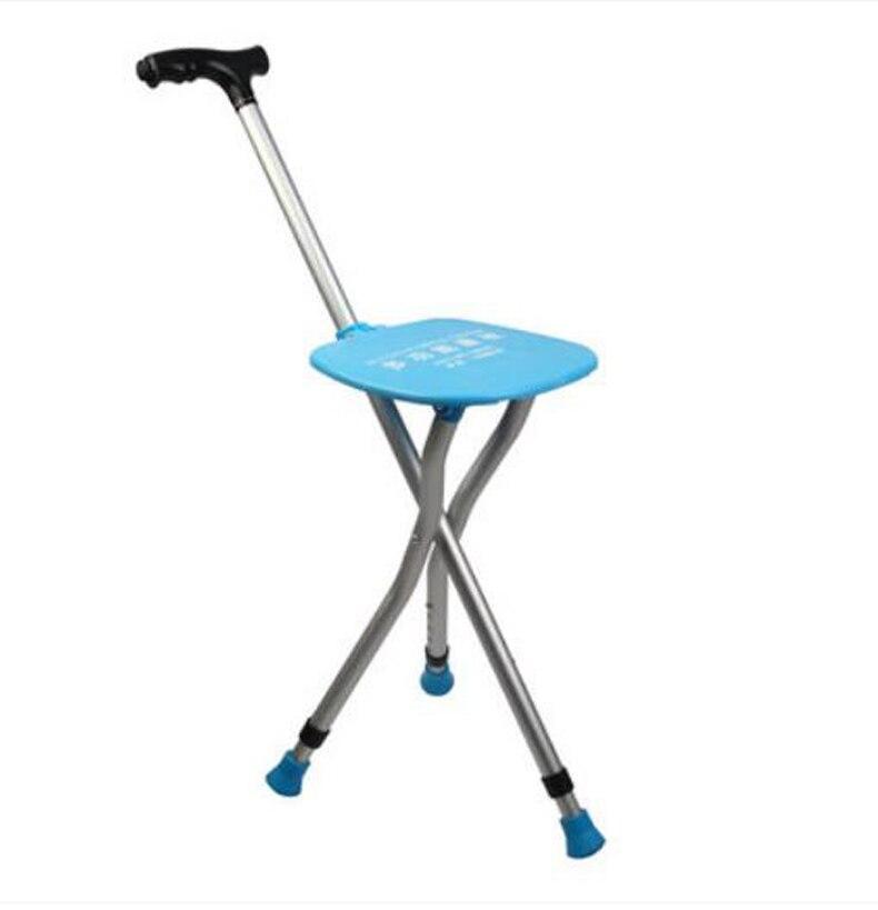 Old man stool walking stick Tripod folded walking stick old man special equipment massage Big sitting board/241028<br><br>Aliexpress