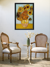 No Frame Van Gogh Sunflowers coloring home decor wall art flower pictures diy oil paintings decorative canvas painting