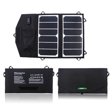 PORTABLE Solar Charger 13W Sunpower Foldable Solar Panel USB Output Waterproof Solar Rechargeable Folding Bag for Iphone/Ipad