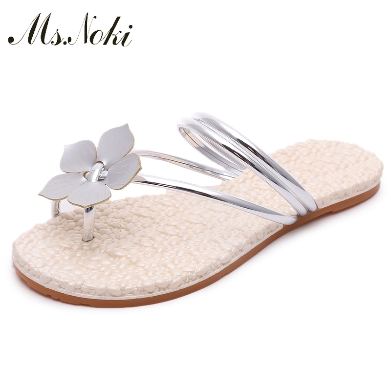 Ms. Noki 2017 New Casual flower Beachshoes Non-slip flat shoes Wedges Women Sandale Comfortable Summer Beach women Shoes<br><br>Aliexpress