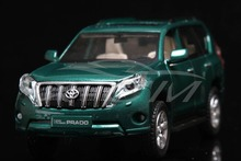 Diecast Car Model Toyota Land Cruiser 2016 Prado 1:32 Can Pull Back (Green) + SMALL GIFT