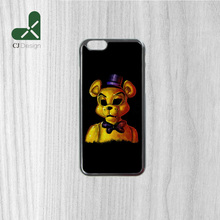 1pcs Authentic golden freddy Pattern Printing Design Plastic Phone Parts Protective Cases for iphone 6 6s 6 6S Plus 4S 5S 5C