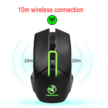 Wireless Rechargeable 2.4 G Gaming Mouse Gamer 7 Button Computer Gaming Mouse 4800 DPI Mice With Charging Cable High Performance