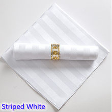 White colour napkins jacquard damask pattern napkin for wedding hotel restaurant table decoration wrinkle stain resistant