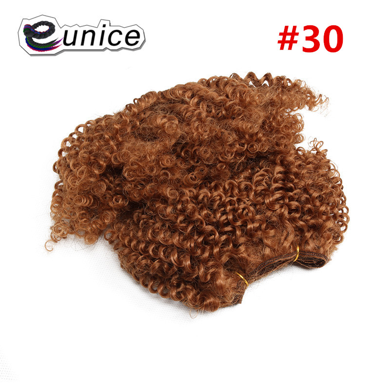 synthetic weaving 8INCH Jerry curly Braid ombre braiding hair weft extentions  (50)