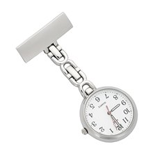 Nurses Lapel Pin Watch 24hr Military Time Analog FOB Infection Control Watch reloj de bolsillo