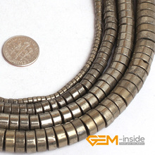 Buy Rondelle Shape Pyrite Stone Spacer Beads Natural Stone Beads DIY Loose Beads Jewelry Making Strand 15 Inches Wholesale ! Store) for $5.08 in AliExpress store