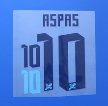 2016 2017 La Liga Celta de Vigo Home ASPAS custom football number font print ,stamping Soccer patch badge