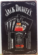 1pc Daniel's Whiskey jack Tin plate commercial tin Sign Bar drink club wall man cave plaques Decoration JD Retro Metal Poster