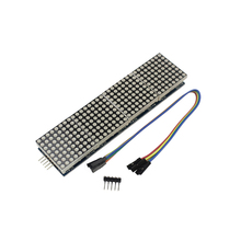 MAX7219 Dot Matrix Module Microcontroller 4 In One Display with 5P Line for arduino DIY KIT(China)