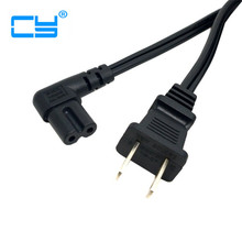 1m Figure 8 C7 AC power cord USA type right angled 90 degree for  Tablet PC Charger Adapter Free shipment