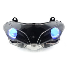 KT Headlight for Ducati Superbike 1098 2007-2009 LED Angel Eye Blue Demon Eye Motorcycle HID Projector Assembly 2008