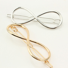 Hot Trendy  Fashion Hollow Out Number Eight Bowknow Hair Clip Hairpin Hair Accessories Pretty Hair Decoration