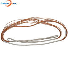 44.9''-58.3'' (114cm-148cm) White Orange Replacement Archery Hunting Shooting Traditional Custom Bow String for Recurve Longbow