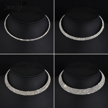 New Trendy Jewelry Rhinestone Choker Classic Style Shining Imitated crystal Women Elegance Chain Choker Necklace wedding gift