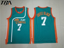 2017 New Green Retro Basketball Jersey Movie Semi Pro Flint Tropics Jackie Moon 33# Coffee BlackThrowback Jerseys All Stitched(China)