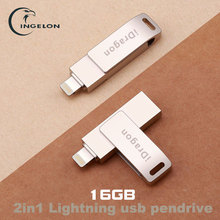 Multi i-Flash Drive usb flash drive 16gb pendrive usb 3.0 lightning flash memory stick for iphone ipod ipad mobile phone drive(China)