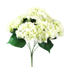 1 Bouquet 7 heads Artificial Hydrangea Silk flower set color home party decor bridal flower Bouquets floral drop shipping