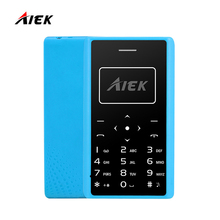 Original Card Phone AIEK/AEKU X7 Cell Phone Mini phone Mobile Phone Low Radiation FM Radio PK AIEK M5 C6 E1 in Stock(China)