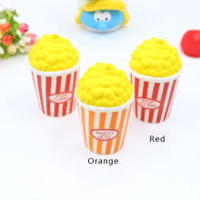 Jumbo 12CM Squishy Popcorn Mobile Phone Straps Upside Down Letter Fun Slow Rising Toy Cute Kids Gift Props(China)