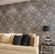 Creative patterns Textures Wallpaper For Wall Embossed Flocking Designs Modern Living room Home Decoration  Wall paper Rolls