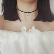 Newest  fashion jewelry accessories Bohemia moon heart star Elephant  silver color Chokers necklace gift for couple girl N104