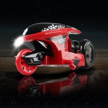 3color 2.4GHZ RC Motorcycle Toys with Light Remote Controlledi RC Motorcycle Super Cool Toy Stunt Car For Children Gift(China)