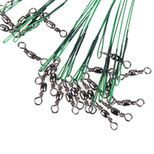 72pcs Fly Fishing Lead Line Sedal Ocean Shark Anti-bite Spinning Rope Wire Leader 15/20/28cm Fishing Line Fishing Tackle Pesca