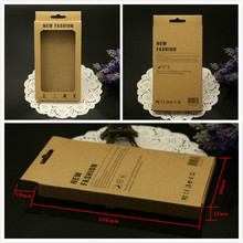 High Quality 156*90*15mm PVC Window Paper Retail Packaging Package Box For iphone7 6 5 Galaxy S4 S3 Note 2 Cell Phone Case