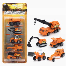Mini Diecast Car Truck Transportation Car Alloy Vehicles Model Cheap Toy Car High Quality Gift Tractor China Toy Crane Kids Toys(China)