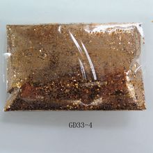 GD33-4 Free Shipping Wholesale 100g/bag Mixed 2-Sizes Champagne Glitter Nice Nail art Glitter Pieces Nail art decoration
