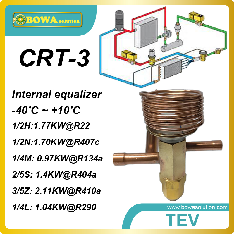 CRT-3 R407c 1.78KW cooling capacity, internal equiplizer and solder connection TEV  working  for heat pump water heater<br><br>Aliexpress