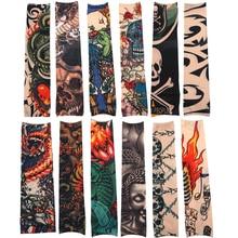 12 шт./лот Высокое качество модные Дизайн Временные татуировки рукава вне походы для верховой езды анти-ВС татуировки рукава для мужчин и жен...(China)