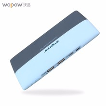 Wopow High Capacity Mobile Phone Power Bank 8000mAh Dual USB Powerbank Portable External Battery Pack Pover Bank With LED Light(China)