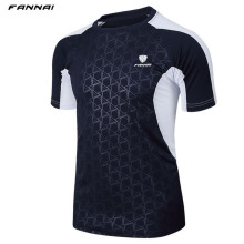 Men Brand Tennis shirt Outdoor sports Running workout jogging clothing Fitness tees male badminton Short sleeve t-shirts tops