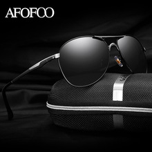 AFOFOO Men HD Polarized Sunglasses Classic Brand Designer Men's Driving Sun glasses Mirror UV400 Male Shades Eyewear For Mens