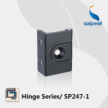 2.65KN Surface Mounted  Zinc Alloy Flush Hinge / Matt Black Finished Cabient Hinges SP247-1 (10pcs/lot)