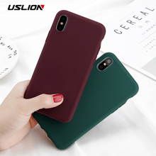 Buy USLION Phone Case iPhone X 10 Simple Solid Color Ultrathin Soft TPU Cases Cute Candy Color Back Cover Capa iPhoneX for $1.03 in AliExpress store