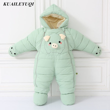 -30 degrees cold Winter warm Down cotton Clothing 2018 New Boy Girl Newborn Coat Parka Romper Baby wear Clothes Snowsuit Costume(China)