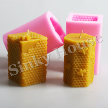 Honeycomb Silicone Molds Clay Candle Molds for DIY Candle Free Shipping Silicone Candle Soap Molds(China)