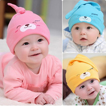 Cute Cartoon Baby Animal Hat Baby Beanie,Girls Boys Toddlers Cotton Sleep Cap,Newborn Spring A Hats bebek Clothing Accessories(China)